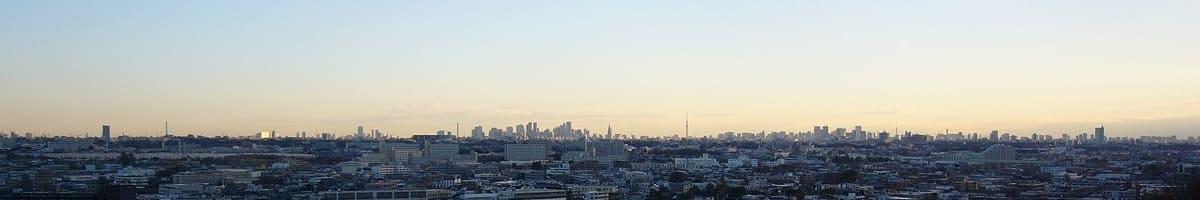 多摩区高台から東京方面(朝)